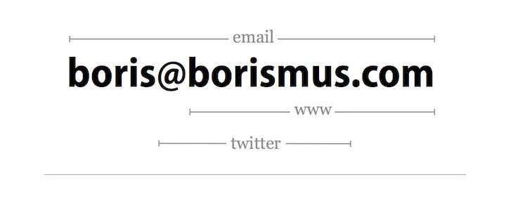 custom domain and email address