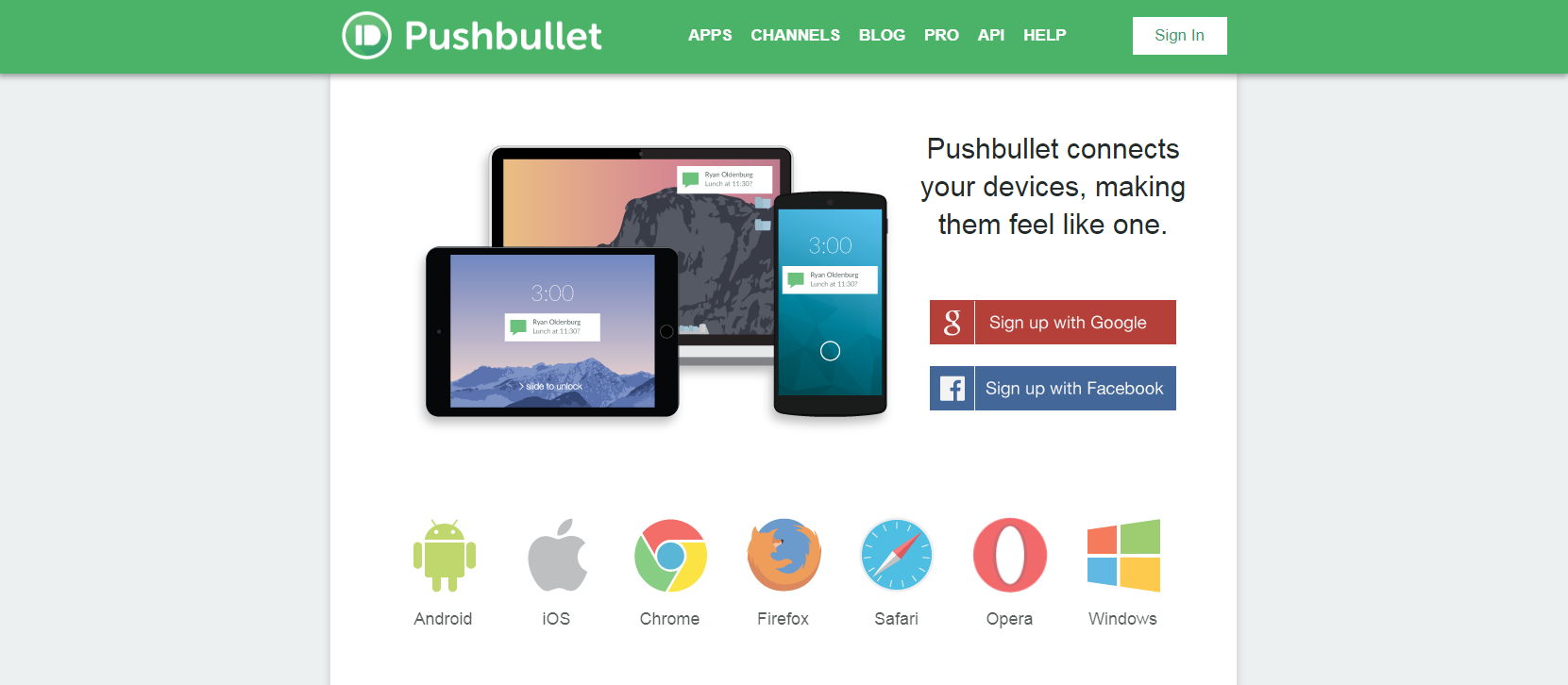 online tools pushbullet