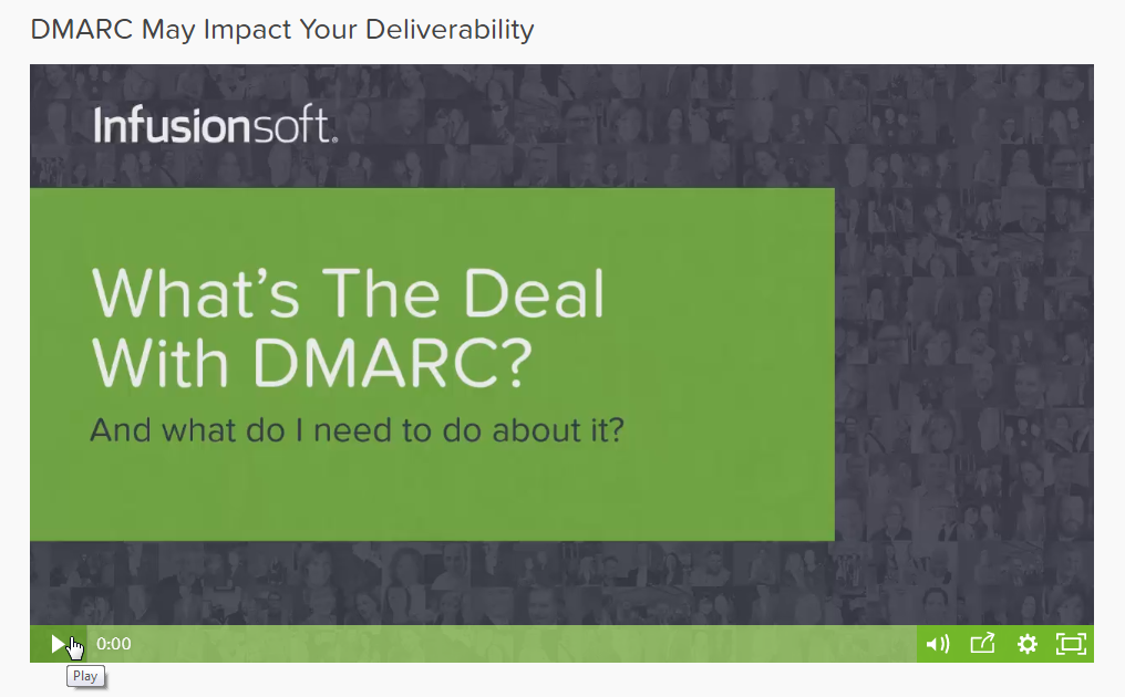 Infusionsoft video on DMARC