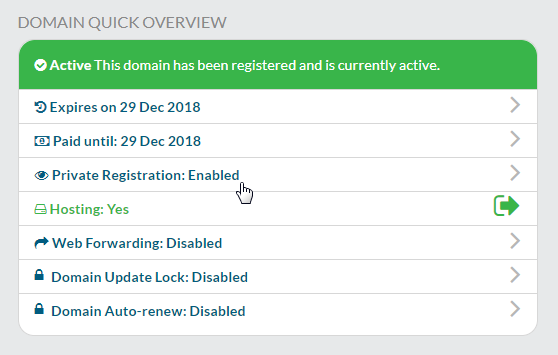 Enable Private Registration in your account