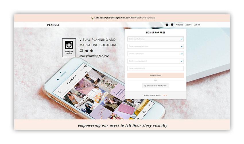 Planoly web araçları