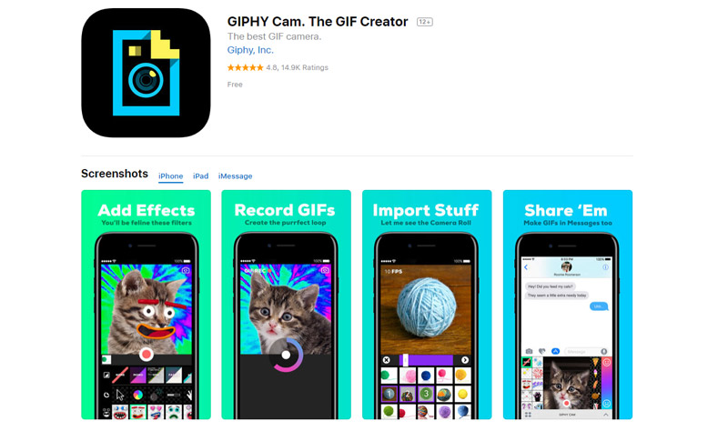 GIPHY Cam online tools