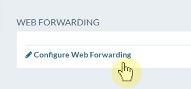 Select configure web forwarding