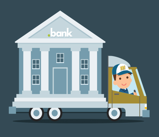 move your .BANK domains