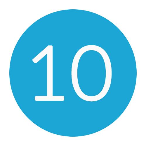 10 DNS records