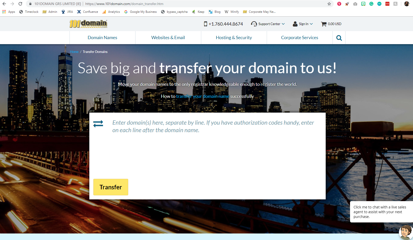 101domain domain transfers