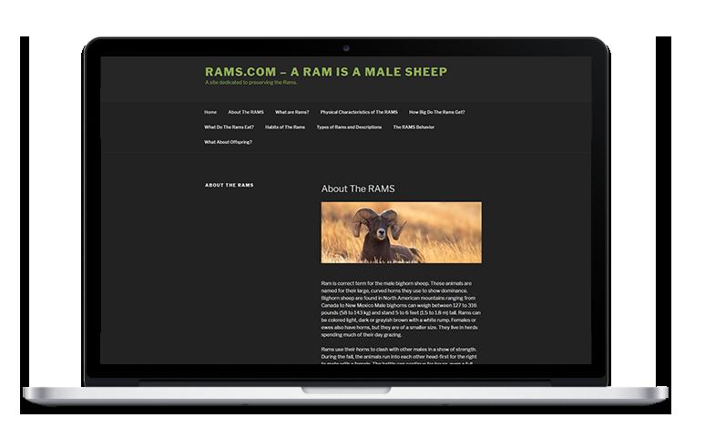 rams.com website