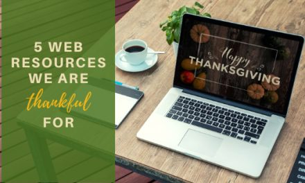 5 Web Resources we are thankful for