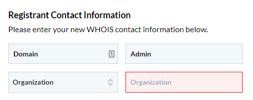 Domain Admin should not be the Organization