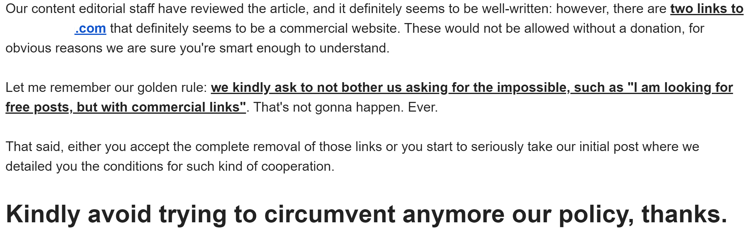 SEO backlink email 2