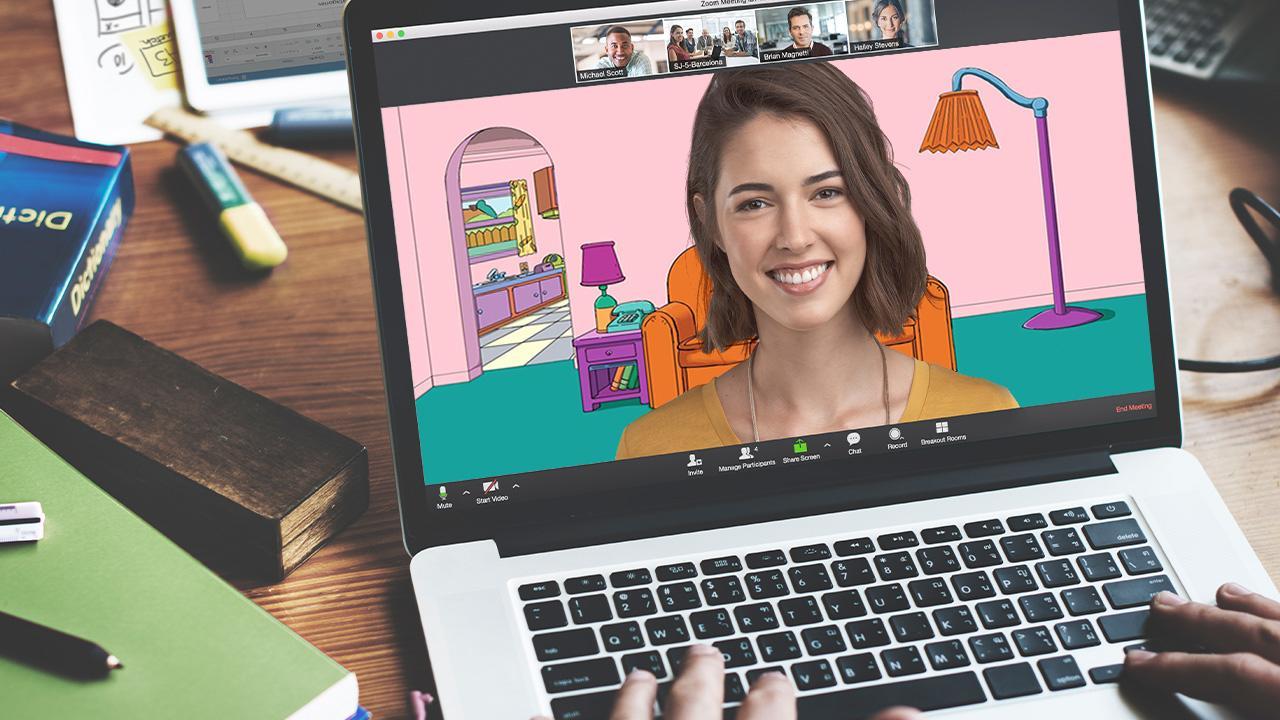 Google Hangouts vs. Zoom virtual background