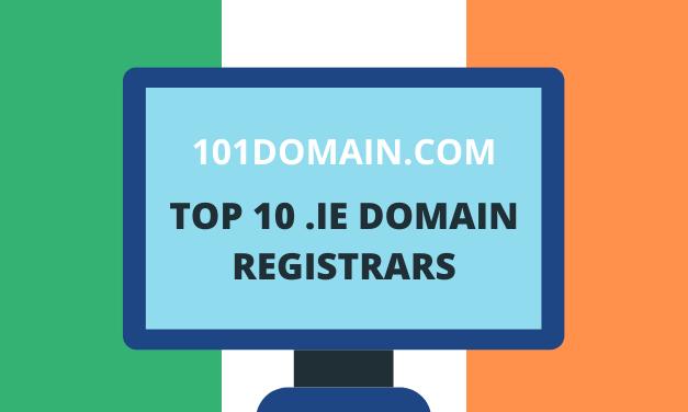 Top 10 Ireland .ie Domain Registrars: 101domain.com