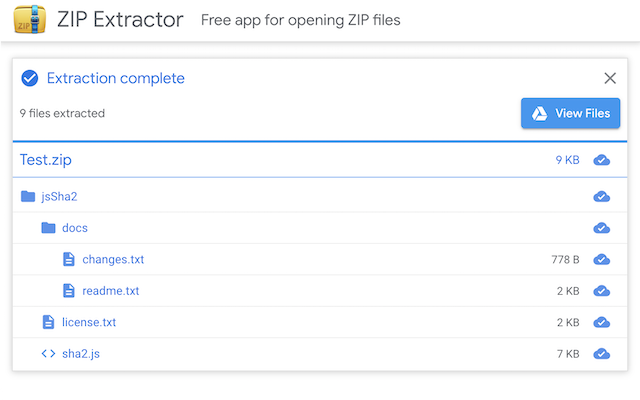 G Suite Marketplace ZIP Extractor