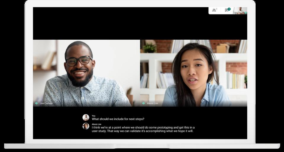 Google Meet live captioning