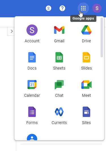 Google Workspace admin apps