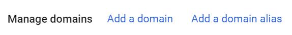 add a domain alias